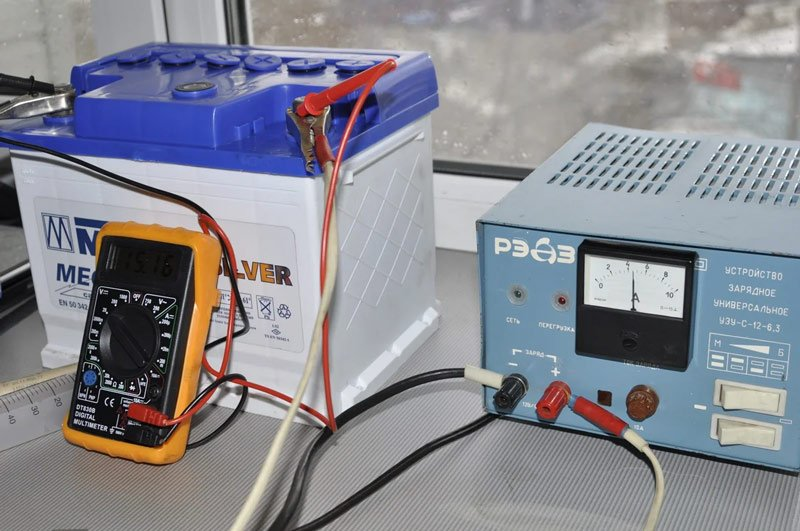 Измерение силы тока в АКБ
