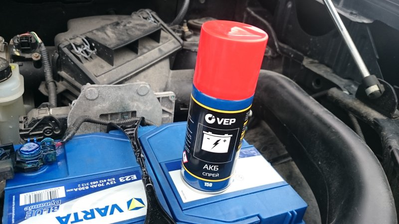 Лак для клемм аккумулятора авто