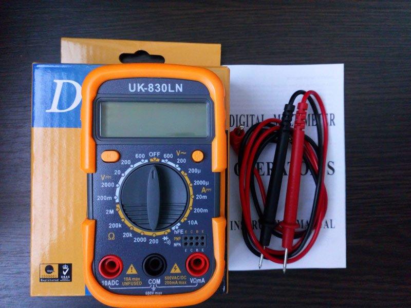 Мультиметр для автомобильного аккумулятора