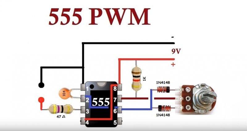 Схема десульфатора 555