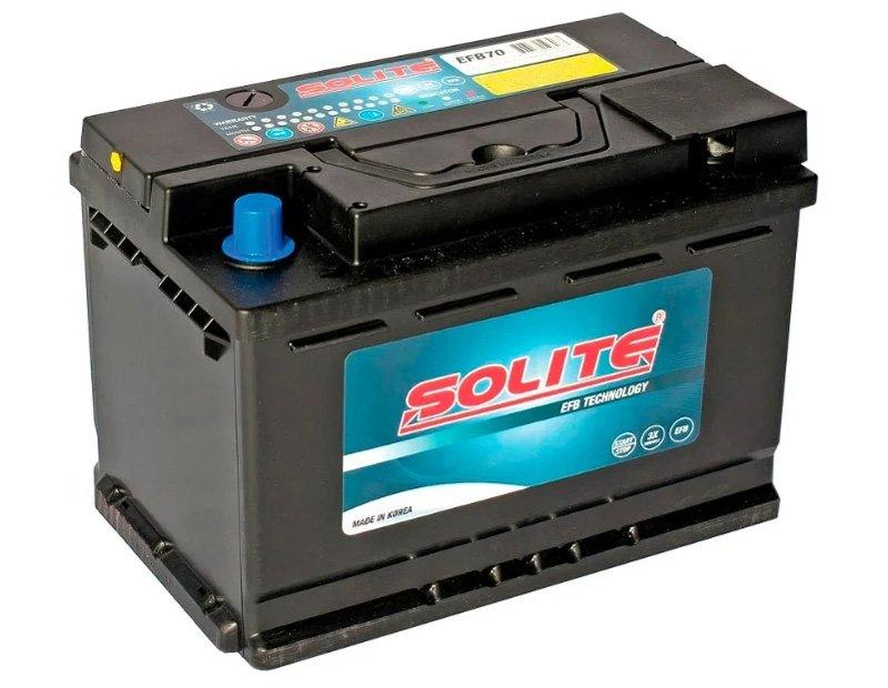 АКБ Solite efb-70