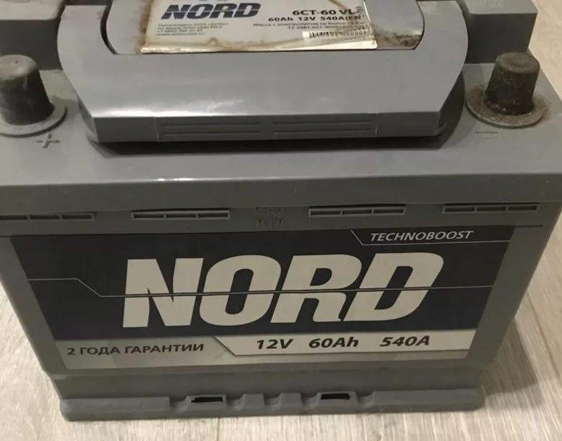Аккумулятор автомобиля Nord