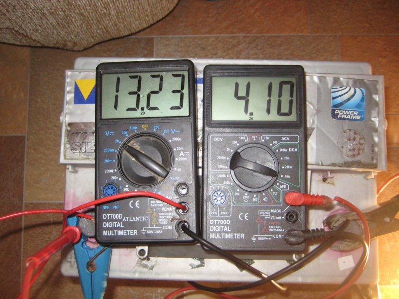 Измерение напряжения и тока мультиметром