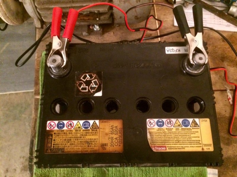 Аккумулятор на зарядке