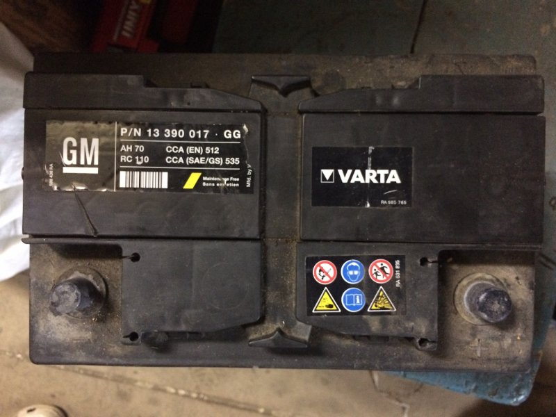 Аккумуляторная батарея Chevrolet Cruze